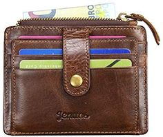 RFID Blocking Small Coin Wallet, Jenuos Slim Genuine Leather Purse for Men, Credit Card Holder, Gift Boxed(QB-LK-DB): Amazon.co.uk: Luggage Man Purse, Coin Wallet, Leather Purses, Coins, Card Holder, Slim, Amazon, Gifts, Men