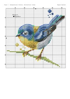Terrific Snap Shots Cross Stitch bird Strategies Since I've been crossstitching sewing considering that I used to be someone I actually sometimes expect tha Cross Stitch Art, Cross Stitch Animals, Cross Stitch Flowers, Cross Stitch Designs, Cross Stitching, Cross Stitch Embroidery, Embroidery Patterns, Hand Embroidery, Butterfly Cross Stitch