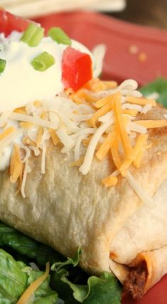 Baked Beef and Bean Chimichangas (Personal Preference: add 1/2 cup onion, 1 can black beans, 1 cup rice)