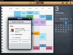 Sophisticated student's planner for your Mac, iPhone, iPad
