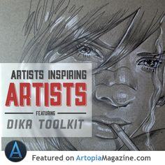 Artists Inspiring Artists. Anna-Lise wrote an article on how following artists on social media can make you a better artist. Read it on http://artopiamagazine.com/artist-inspiring-artists-dika-toolkit/