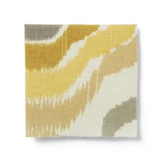 Upholstery Fabric by the Yard, Retro Ikat, Buttercup