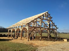 Timber Frame Barn- Bare Timber Frame- Timber Frame Construction- Homestead Timber Frames- Crossville Tennessee