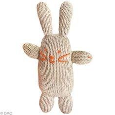 Tricoter un doudou lapin avec Natura