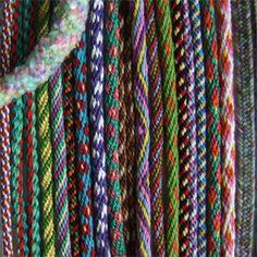 Kumihimo patterns - inspiration - Kumihimo color ideas #kumihimo #kumihimopattern