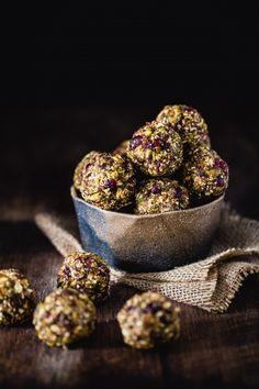 Superfood energy bites -these look awesome except I will switch almond meal for flax meal