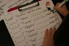 Love this pocket chart story...practice sight words ... This kind of sheet could go I poem center.