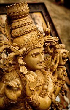 "K stands for Krishna. Lord Krishna: ""While many Vaishnava groups recognize him as an avatar of Lord Vishnu; some traditions within Krishnaism, consider Krishna to be Svayam Bhagavan, or the Supreme Being. Krishna Statue, Krishna Radha, Hanuman, Krishna Leela, Janmashtami Images, Temple India, Indian Temple, Hindu Temple, Krishna Janmashtami"