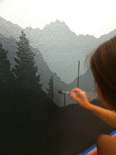 Moody Mountains Mural // JJA Murals More