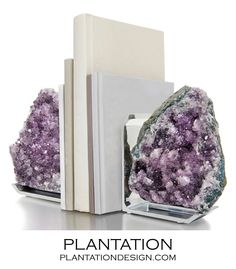 Chrysalis Bookends | Amethyst