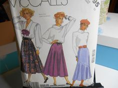 80s Stylelines Skirts McCall's Sewing Pattern 2795 Size 10 UNCUT by MrsPsSewingEmporium on Etsy