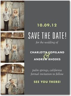 Save the Date - adorable photos and a lovely color scheme!