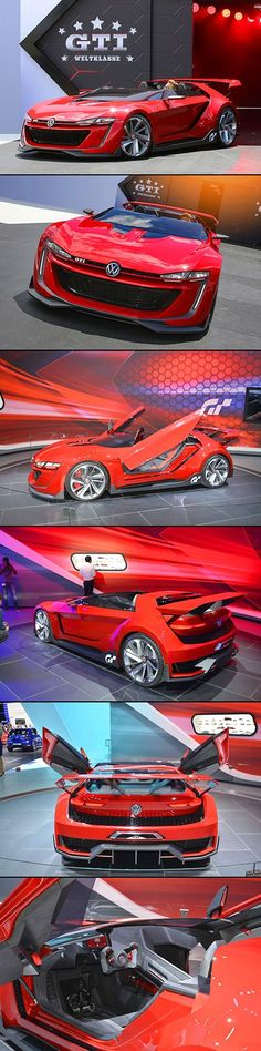 Futuristic VW GTI Roadster Concept Looks to be Straight from a Video Game