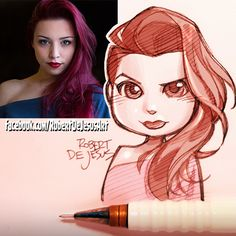 Emilcapo doodle.   #portrait #selfie #anime #chibi #kawaii #redhead #blue #dress #animeportrait #manga #mangaportrait