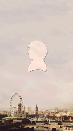 Sherlock silhouette iPhone 5 wallpaper