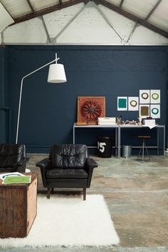 Indigo: the colour for 2013 Concrete foors, raw, cool, fresh, intelligent. Loft