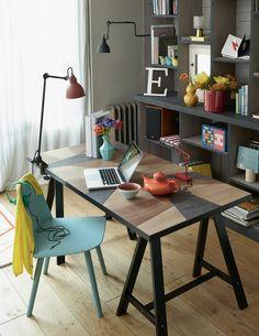 Déco : un bureau DIY - DIY desk - Marie CLaire Idées