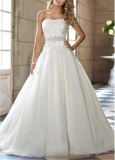 Charming  Ball Gown Strapless 2013 Wedding Dress