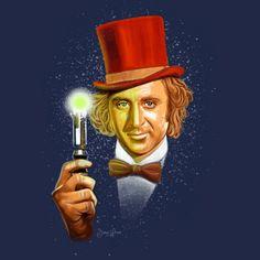 Wonka Who T-Shirt $11 Doctor Who tee at Blue Box Tees!