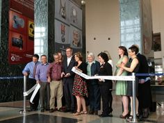 Ribbon cutting at the OMN season launch with Jim Watson and the Ottawa Museum Network.