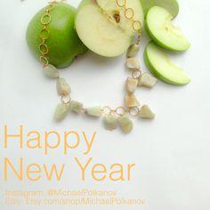 Gemstone necklace by Michael Polkanov. Handmade. Shana Tova!