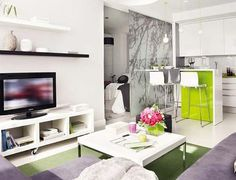 Great Interior Design of a Small 40 Square Meter Apartment