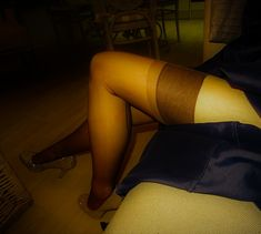 Brown stockings by night.