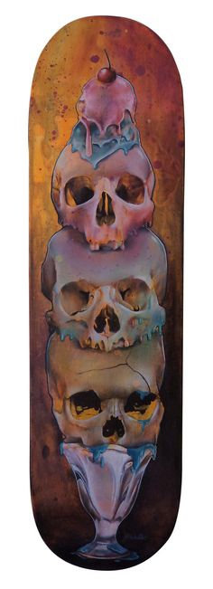 Skull Oil Paintings by Jade Doreen Waller on...   ASYLUM ART