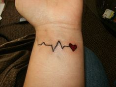 babys heartbeat.. Want one for For each of my girls, with their initials