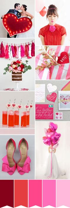 Wedding colors february valentines day for 2019 Pink Wedding Shoes, Red Wedding, Wedding Bells, Wedding Day, Wedding Dress, Valentines Day Weddings, Valentines Flowers, Valentine Day Love, Wedding Color Schemes