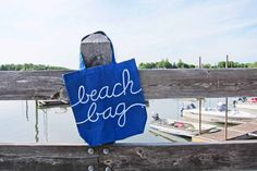 Beach Tote, Beach Bag, Blue Tote Bag, Nautical Girls Gift, Reusable Grocery Bag, Beach Honeymoon, Canvas Tote Bag, Vacation Tote