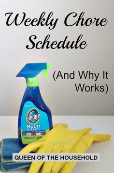Do you always feel behind on your cleaning chores? Find out how a weekly chore schedule is the answer to your problem!