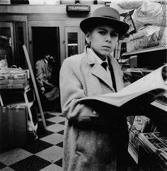 """Boy reading magazines"" - Diane Arbus - NYC - 1956."
