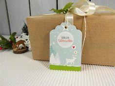 Geschenkanhängerset Weihnachten Hirsch Wald