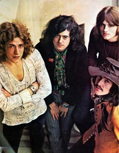 Led Zeppelin looking young and gorgeous!!