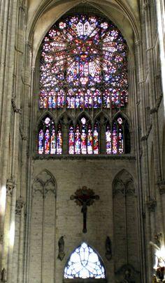 Rosetón del portal norte. Catedral de Amiens 25