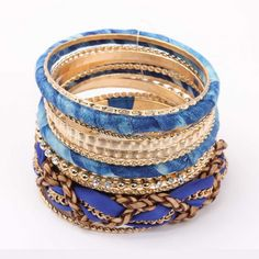 Blue-Toned Bangle Set @ Rs 799 http://khoobsurati.com/khoobsurati/blue-toned-bangle-set-khoobsurati