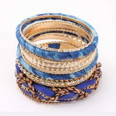 Blue-Toned Bangle Set @ Rs 799 http://khoobsurati.com/khoobsurati/blue-toned-bangle-set-khoobsurati