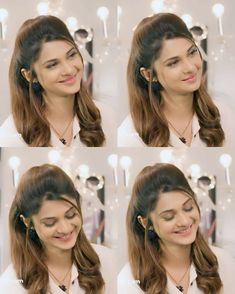Saree Hairstyles, Open Hairstyles, Daily Hairstyles, Formal Hairstyles, Indian Hairstyles, Wedding Hairstyles, Angry Girl, Corporate Women, Jennifer Winget Beyhadh