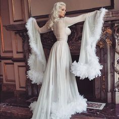 the hollywood starlet dressing gown by dainty rascal please vintage negligees pinterest. Black Bedroom Furniture Sets. Home Design Ideas