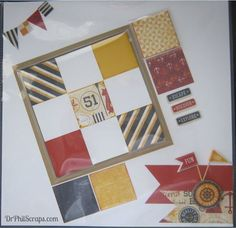 Scrapbook Layout using Flip Flaps and Tommy Paper from CTMH - http://DrPhilScraps.com