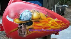 fire man skull on fire