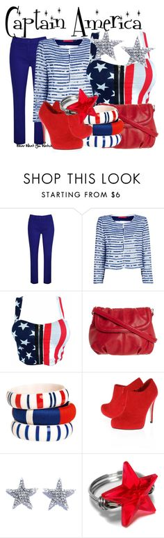 """""""Captain America"""" by wearwhatyouwatch ❤ liked on Polyvore featuring Kaliko, Alice + Olivia, Anna Field, By Malene Birger, Miss KG, DANNIJO, wearwhatyouwatch and film"""