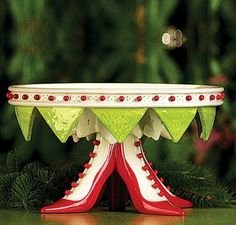 Patience Brewster Krinkles Christmas High-Heel Shoes Serving Plate  LOOOOOOOOOOOOOOOOVE!