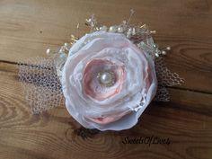 Wedding hair flower Bridal hair flower Wedding by SweetsOfLife4