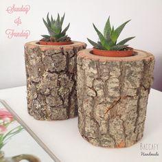 Kütük saksi bilgi ve siparis  baccafy@gmail.com & DM #baccafy #homedecor #decoration #dekorasyon #homedetails #interior #outdoor #evdekor #evim #succuloves #succulentpot #crossstitch #saksi #kutuksaksi #woodwork #wooddecor #garden #woodworking #home #woodpot #succulents #pinterest #evimdergisi #alldecor #maisonfrancaise #handmade #haus #bau #kaktus #succulove