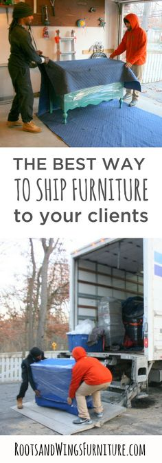 Offer the best customer service and reach more clients by offering shipping on your pieces!  The Complete Guide to Shipping Furniture eBook will tell you how.  By Jenni of Roots and Wings Furniture LLC.