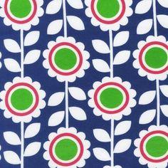 Flowers Navy TRICOT  - Studio Saartje - online winkel met designer-, retro- en vintage stoffen en exclusieve patronen