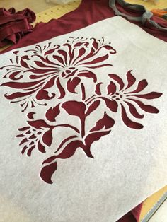 just finished cutting this stencil! :)
