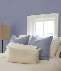 PPG's Color of the Year Violet Verbena works beautifully to create a tranquil…